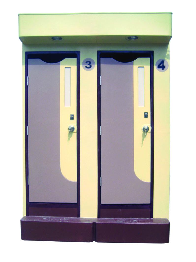 Nhà vệ sinh di động 2 buồng HMT09
