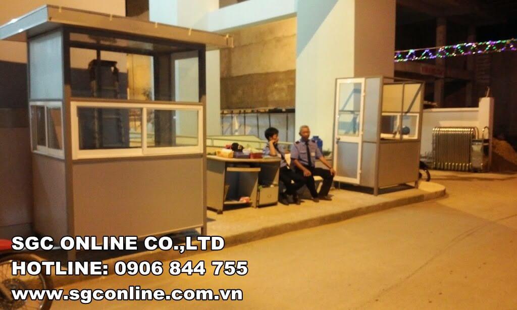 Cabin Nhà giữ xe tại KDC Tân Hương – Tân Phú