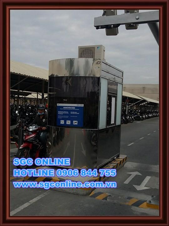 Cabin giữ xe inox BV100 tại Nhà máy  Intel Q9